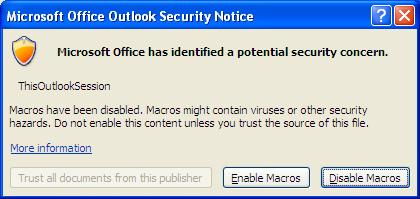 Outlook VBA Macro Application_NewMail event stopped working